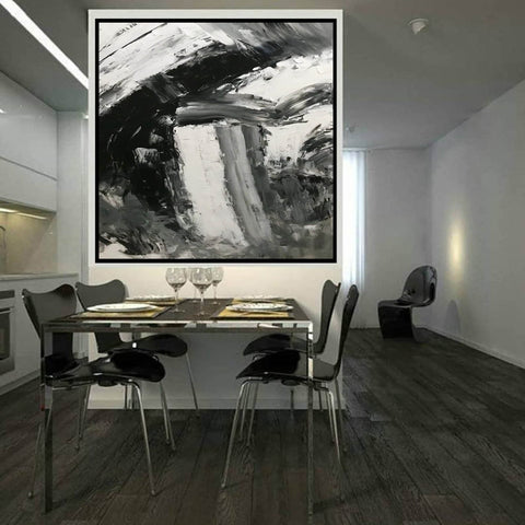 Image of Large abstract painting  | Oil painting original F330-3
