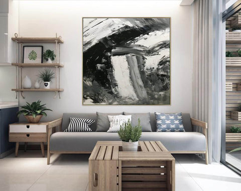 Image of Large abstract painting  | Oil painting original F330-5