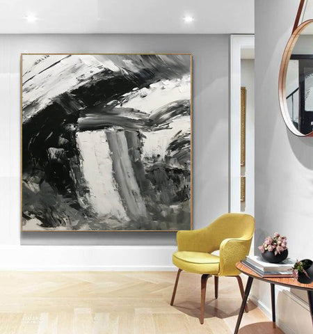 Image of Large abstract painting  | Oil painting original F330-7