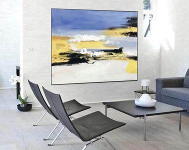Large original abstract painting | Oversized wall art F332-1