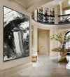 Black and white abstract art paintings | Black and white contemporary art F337-7