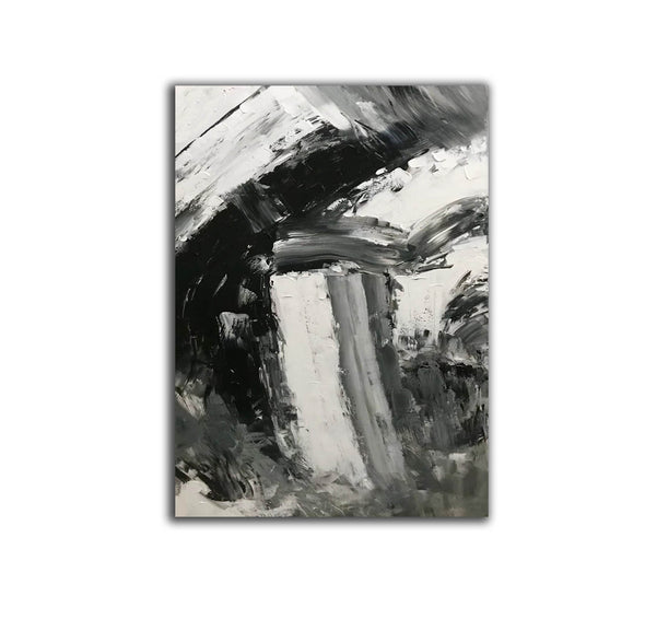 Black and white abstract art paintings | Black and white contemporary art F337-9