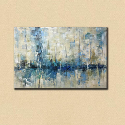 Image of Abstract canvas | Easy abstract painting F350-3