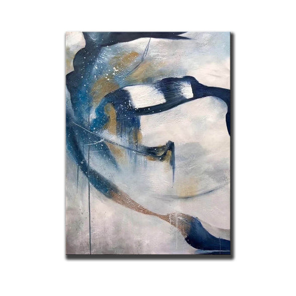 Contemporary abstract wall art | Large canvas art abstract F357-4
