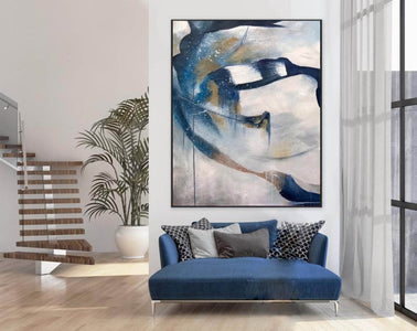 Contemporary abstract wall art | Large canvas art abstract F357-5