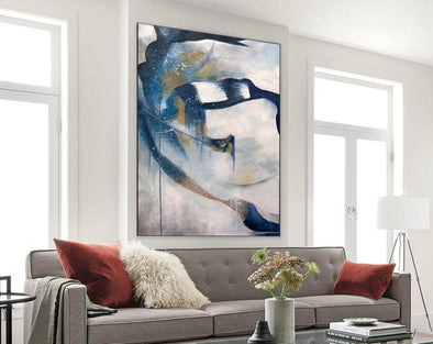 Contemporary abstract wall art | Large canvas art abstract F357-1