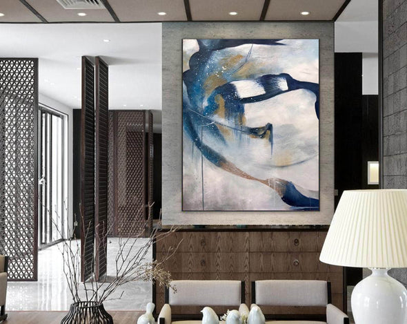 Contemporary abstract wall art | Large canvas art abstract F357-6
