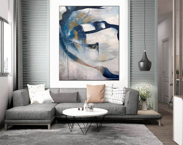 Contemporary abstract wall art | Large canvas art abstract F357-7