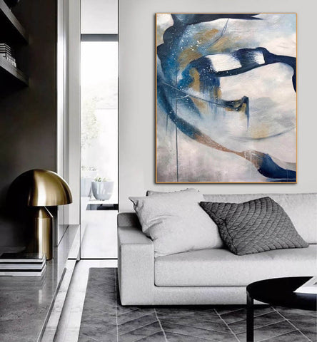 Image of Contemporary abstract wall art | Large canvas art abstract F357-8