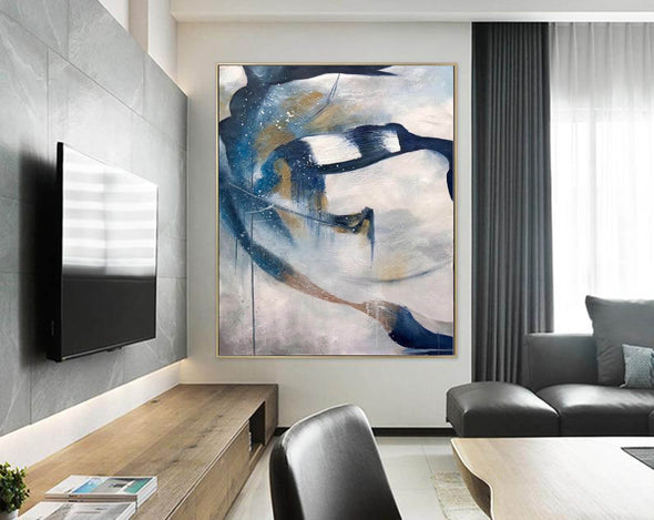 Contemporary abstract wall art | Large canvas art abstract F357-9