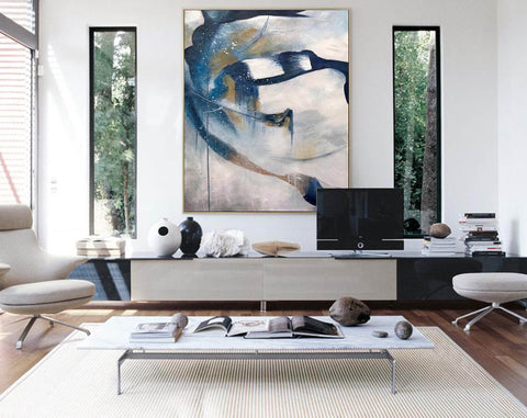 Image of Contemporary abstract wall art | Large canvas art abstract F357-2
