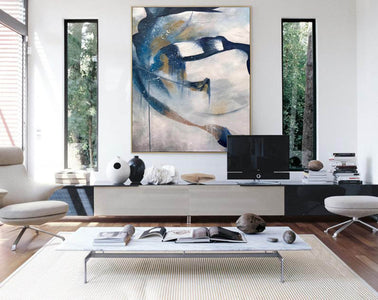 Contemporary abstract wall art | Large canvas art abstract F357-2