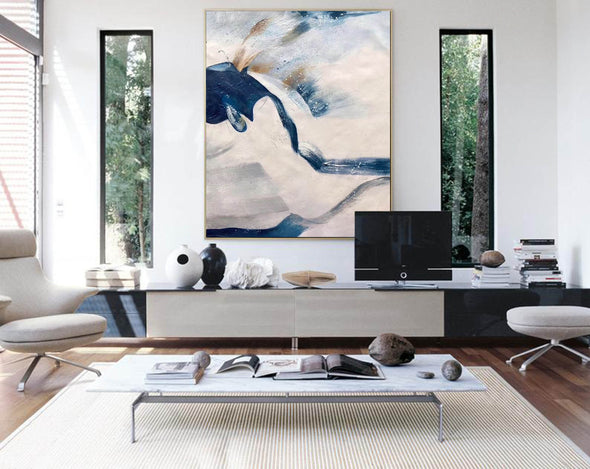 Large original abstract painting | Oversized wall art F358-1