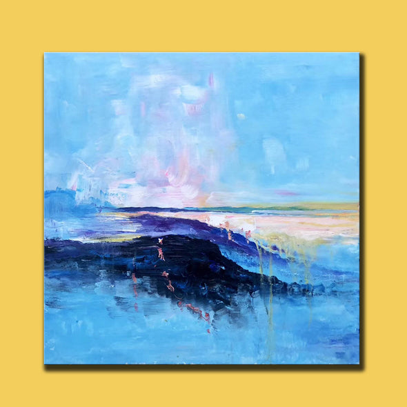 Abstract canvas painting ideas | Contemporary paintings F207-9