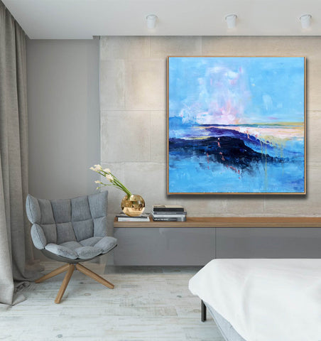 Image of Large original abstract painting | Oversized wall art F284-2