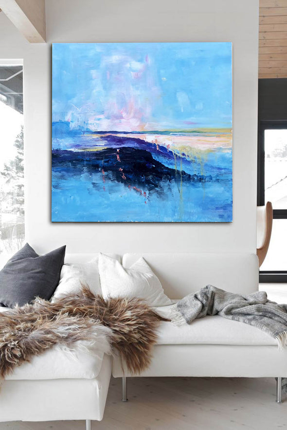 Abstract canvas painting ideas | Contemporary paintings F207-3