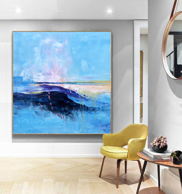 Abstract canvas painting ideas | Contemporary paintings F207-4