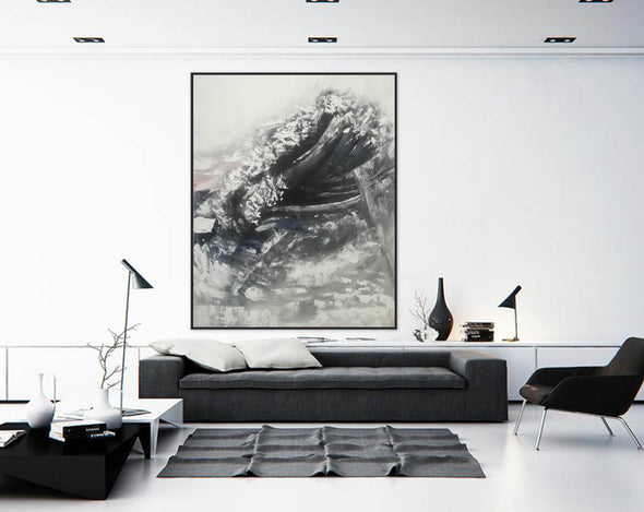 Oversized framed wall art | Large abstract wall art F369-5