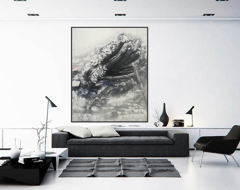 Image of Oversized framed wall art | Large abstract wall art F369-5