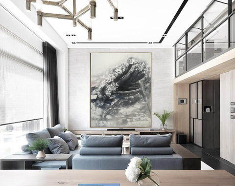 Image of Oversized framed wall art | Large abstract wall art F369-2