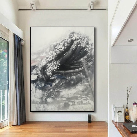 Image of Oversized framed wall art | Large abstract wall art F369-7