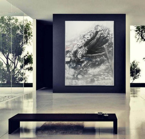 Image of Oversized framed wall art | Large abstract wall art F369-8