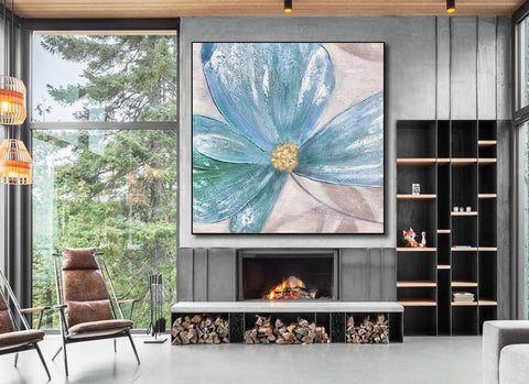 Image of Large Painting on Canvas | Original Painting on Canvas F372-7