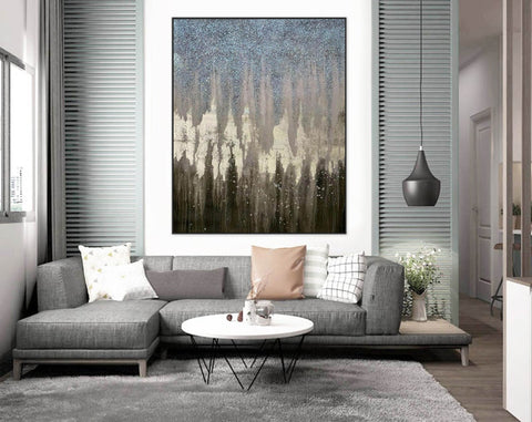 Image of Abstract Painting Original Large Acrylic Canvas Wall Art F379-1