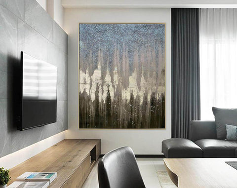 Image of Abstract Painting Original Large Acrylic Canvas Wall Art F379-7