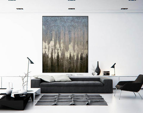 Image of Abstract Painting Original Large Acrylic Canvas Wall Art F379-8