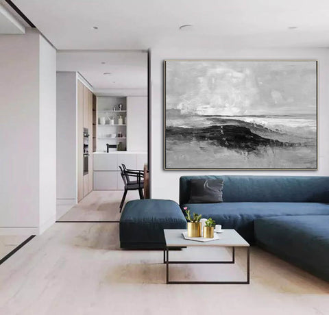 Image of Large oil painting, Large canvas, Canvas wall art F209-3