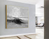 Gray and white painting | Art black and white painting F286-4