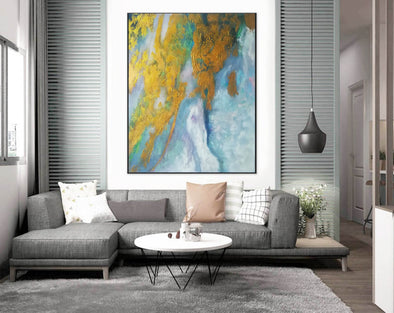 Abstract Painting Original | Large Acrylic Canvas Wall Art F386-1