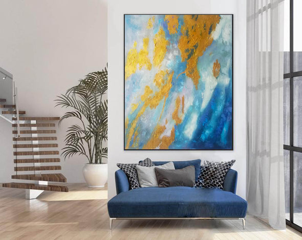 Large Abstract Oil Painting | Abstract Paintings On Canvas F388-5