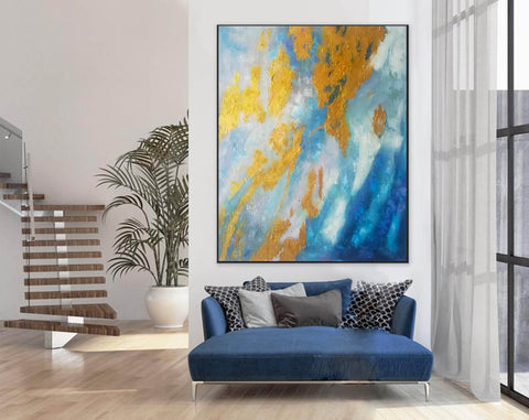 Image of Large Abstract Oil Painting | Abstract Paintings On Canvas F388-5