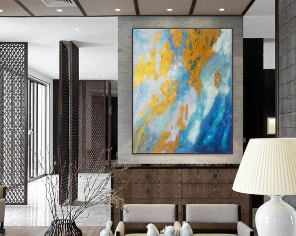 Large Abstract Oil Painting | Abstract Paintings On Canvas F388-6