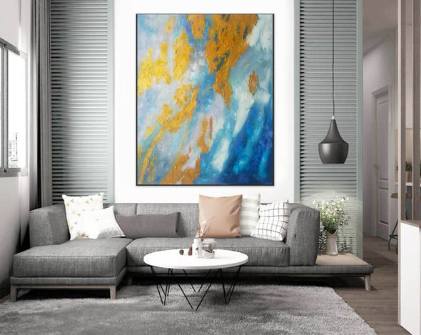 Large Abstract Oil Painting | Abstract Paintings On Canvas F388-7