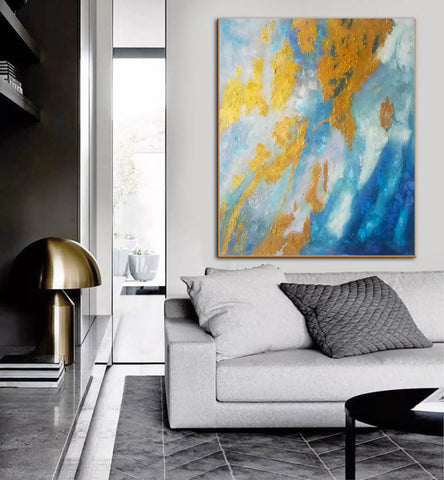 Image of Large Abstract Oil Painting | Abstract Paintings On Canvas F388-8