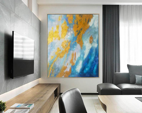 Large Abstract Oil Painting | Abstract Paintings On Canvas F388-9