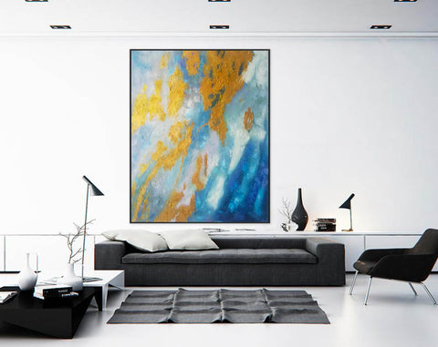 Image of Large Abstract Oil Painting | Abstract Paintings On Canvas F388-1