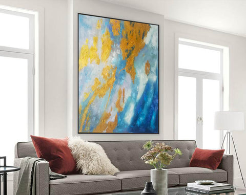 Image of Large Abstract Oil Painting | Abstract Paintings On Canvas F388-2