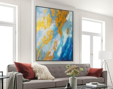 Large Abstract Oil Painting | Abstract Paintings On Canvas F388-2