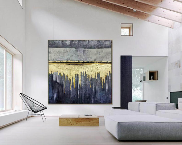 Oversized wall art | Modern abstract painting F390-1
