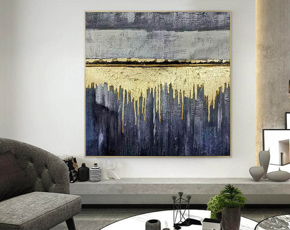 Oversized wall art | Modern abstract painting F390-2