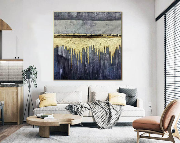 Oversized wall art | Modern abstract painting F390-4