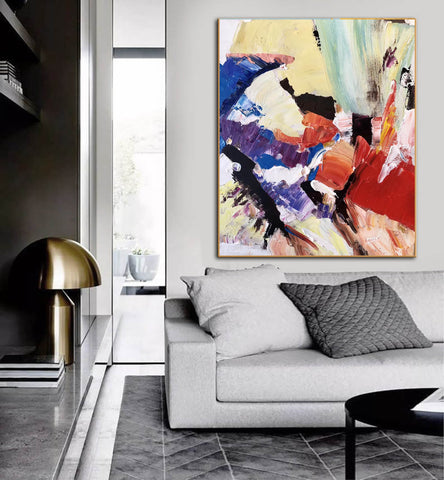 Image of Large Painting on Canvas | Extra Large Painting on Canvas F397-6