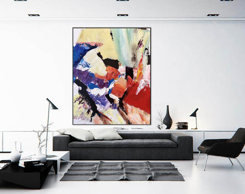 Image of Large Painting on Canvas | Extra Large Painting on Canvas F397-8