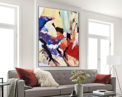 Image of Large Painting on Canvas | Extra Large Painting on Canvas F397-9