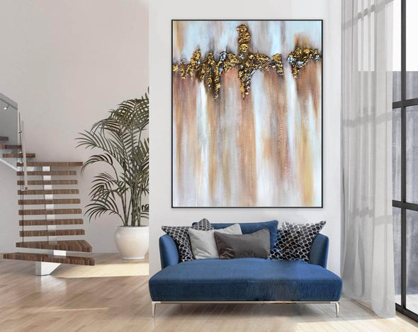 Abstract Painting | Original Large Acrylic Canvas Wall Art F403-5