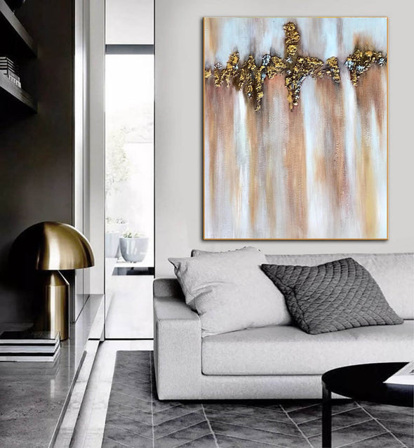Abstract Painting | Original Large Acrylic Canvas Wall Art F403-6